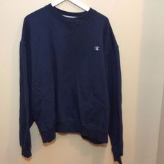 a7e5973ee7ce Vintage Champion Logo Embroidered Oversized Blue Sweatshirt Size XXL Mexico