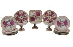 Set de sobremesa em porcelana Alema Meissen do sec.19th, 5,610 USD / 5,150 EUROS / 19,450 REAIS / 34,850 CHINESE YUAN soulcariocantiques.tictail.com