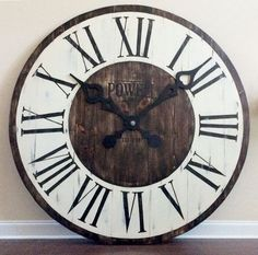 Large office wall clocks Giant Giant Wall Clock Large Office Wall Art Entryway Decor Statement Wall Art Rustic Furniture And Decor Country Farmhouse Kitchen Decor Pinterest 65 Best Large Wall Clocks Images Wall Clocks Big Wall Clocks