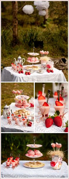 Enchanted Forest Tea Party, @Janine Hardy Shreve this is what I had in mind, sort of, but without so much pink. The flower halos I love!