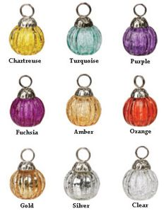 """1.25"""" D Glass Bauble Place Card Holders - Set of 12 $41.92 w/ shipping"""