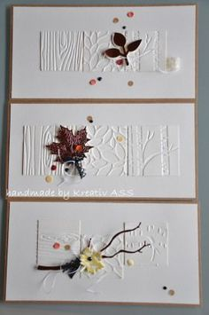 Embossing Folders, Seasonal Layers, Painted Harvest, leaves, Wow