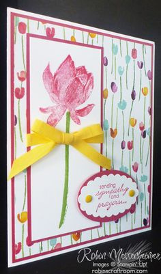 colorful Sympathy card by Robin Messenheimer