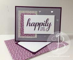 Handmade card and envelope made using Stampin' Up! Big News stamp set