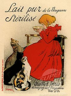 Steinlen, Theophile Alexandre (1859-1923) Private Collection 1890s Colour lithograph Art Nouveau Schwitzerland Poster and Graphic design Poster © Fine Art Images / SuperStock Stock Photography Category: Image Keywords: promotion, advertising, art nouveau, artnouveau, Communication design, Fin de siecle, graphic design, Graphicdesign, Jugendstil, marketing, Modern Style, Modernisme, promotion, Reformstil, Still Modern, Stile Liberty, Wiener Secession.