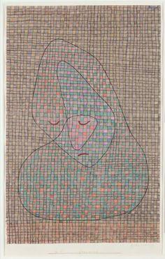 Trauer, 1934 (wc und Gouache auf Papier auf Karton) Paul Klee