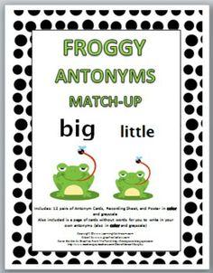 Froggy Antonyms Match-Up