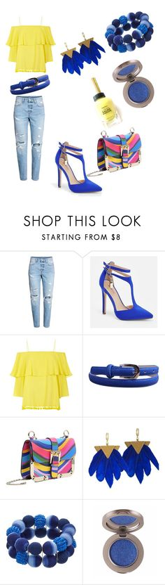 """""""Ripped jeans - funk it up"""" by shop-o-shoe-holic ❤ liked on Polyvore featuring JustFab, Alice + Olivia and RED Valentino"""