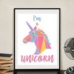 I'm a UNICORN Rainbow Wall Art Printable by TypographyTourist