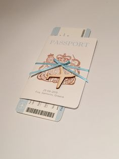 Our #passport #wedding #invites #Greece #Santorini #invitations