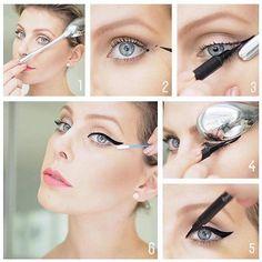 Aplicar eyeliner con ayuda de una cuchara