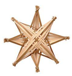 Stjerner i flade rattan sjener
