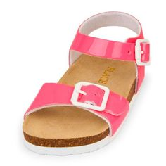 b469bb323e7 Baby Girls Toddler Double Strap Luna Sandal - Pink Sandals - The Children s  Place Pink Sandals