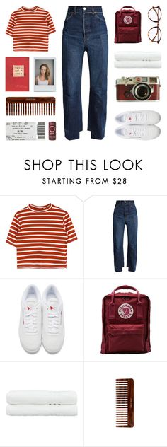 """DIMPLE"" by arditach ❤ liked on Polyvore featuring Vetements, Reebok, Fjällräven, Leica, Linum Home Textiles and (MALIN+GOETZ)"