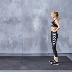 Train Like An Angel with Elsa Hosk: Multitask your way to fit! Lunge-to-Squat Jumps not only strengthen your legs, hips, abs & butt, but also hike up your heart rate. Click ahead to see the full workout & shop Elsa's looks. | Victoria's Secret Sport