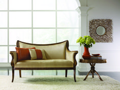 Lovely small sofa by Compositions. Small Sofa, Traditional Furniture, Settee, Accent Pieces, Small Spaces, Love Seat, Accent Chairs, Couch, Living Room