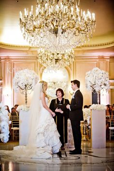 white and crystal ceremony