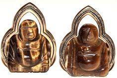 Vintage Cufflinks | Cuff Links Dress Accessories | Tigers Eye Carved Buddha