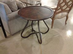 Round Century lamp table
