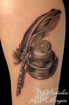 16 Inspiring Inkwell And Quill Tattoos