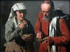 Peasant Couple eating Peas