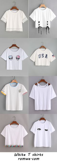 Simple & Casual T shirts with soft material and good price from romwe.com