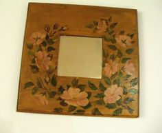floral painted mirror