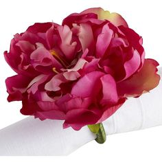 Pier One Purple Peony Napkin Ring ($3.16) ❤ liked on Polyvore
