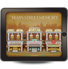 Main Street Memory app is meant to assist both children and adults who need practice processing and recalling brief, complex auditory instructions. Unlike other recall apps, this one takes place in a real life context-shopping and working downtown.
