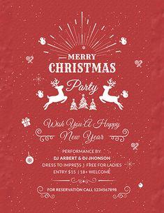 free retro christmas poster