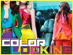 Color blocking é a mistura de cores fortes e marcantes num mesmo look. Inspire-se nesses looks para montar já o seu!