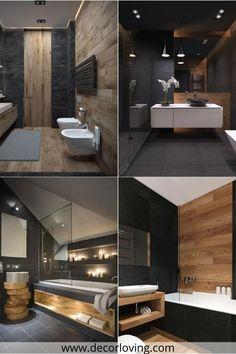 Bathroom Design Luxury, Interior Design Living Room, Bathroom Wall Decor, Small Bathroom, Design Your Home, Traditional Bathroom, Luxury Kitchens, Beautiful Bathrooms, Natural Materials