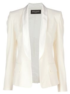 ac27b5bc balmain white jacket $1485 Balmain Jacket, World Of Fashion, I Love  Fashion, Fashion