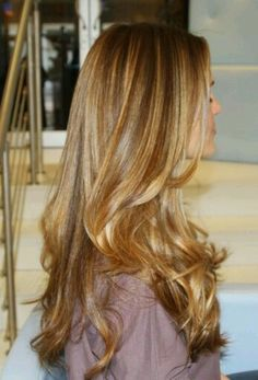 Dark/Medium blonde with some caramel highlights. dark/medium blonde with some caramel highlights honey blonde hair color Honey Brown Hair Color, Honey Hair, Brown Hair Colors, Blonde Honey, Hair Colour, Haircut And Color, Pretty Hairstyles, Brown Hairstyles, Layered Hairstyles