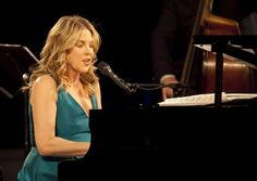Canadian Jazz pianist and singer Diana Krall performs live during a concert at the Philharmonie on October 19 2009 in Berlin Germany The concert is. Jazz, Diana Krall, October 19, Berlin Germany, Crossover, Singers, Folk, Stock Photos, Female