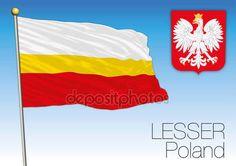 Bandiera regionale minore, Polonia — Vettoriali  Stock © frizio #141781804