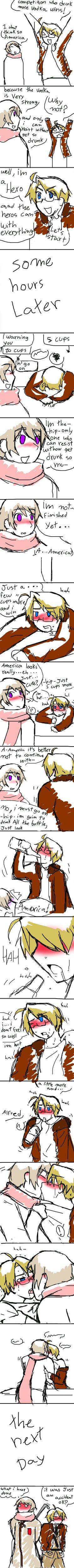 LOL I can't stop laughing!!! APH the effect of vodka by gakumi.deviantart.com on @deviantART