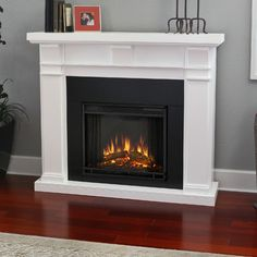 Real Flame Crawford Slim Line White 47.4 in. L x 9.5 in. D x 41.9 ...