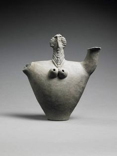 Anthropomorphic vase, first half of the second millennium BCE, Neo-Elamite dynasty. | Louvre Museum