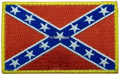 Confederate Flag Iron On 100 Embroidered Embroidery