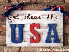 With the 4th of July quickly approaching, I decided we needed a cute patriotic sign for our front porch. I found some wooden letters on sale at hobby lobby that inspired this sign-- all the other ...