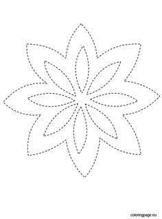 Traceable Kid's Flower Printable Hawaiian Quilt Patterns, Hand Quilting Patterns, Hawaiian Quilts, Mandala Stencils, Quilting Stencils, Pop Bottle Crafts, Wine Barrel Crafts, Nail String Art, String Art Patterns