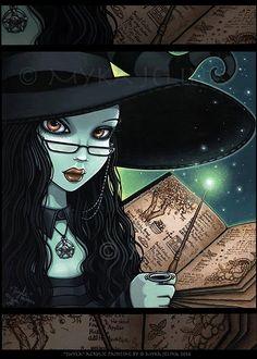 Twyla Samhain Witch Halloween Magical Fantasy by MykaJelina