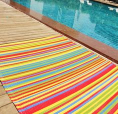 #rainbow #plastic #rugs #interiordesign #stripes #bedroom #bathroom #outside #inside #home