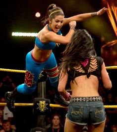 Bayley WWE NXT Diva..a jump against my AJ from Bayley?Brave,brave...*smile*.Breathe for me AJ,breathe.Marki