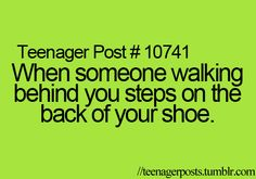 most of the time i'm the person who steps on the other person..