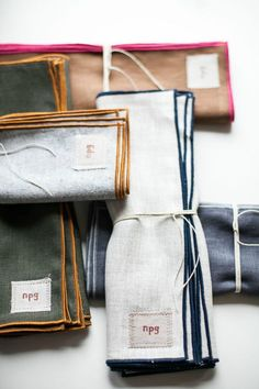 NPG Classic Everyday Linen Napkins for Martha Stewart American Made: Set of 6