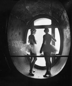 Ballerinas during a rehearsal for swan lake at the grand opera de paris in 1930