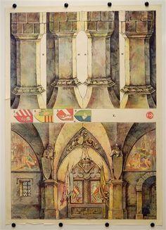 X. [Bogen 10, Rittersaal. Münzberg`s Dekorationen für Familientheater für Puppen 18-25 cm]
