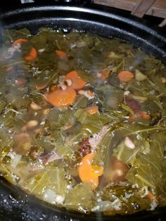 Collard Green, Black Eye Pea w/Smoke Turkey Soup